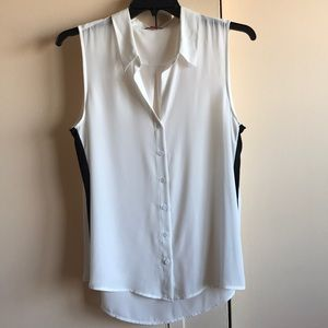 Nice white and black blouse NWOT